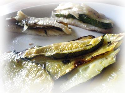 Ricetta Filetti di Sogliola con chips di zucchine al forno