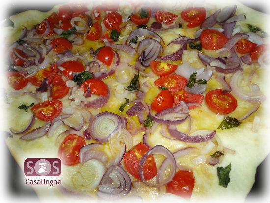 Gnocco con Cipolla, Pomodorini e Basilico