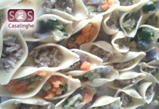 Ricetta Conchiglioni alle verdure e funghi al forno